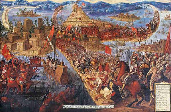 La caída Tenochtitlán