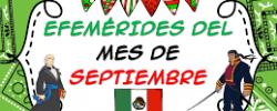Efemérides del mes de Septiembre