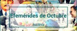 Efemérides del mes de Octubre en México y el mundo