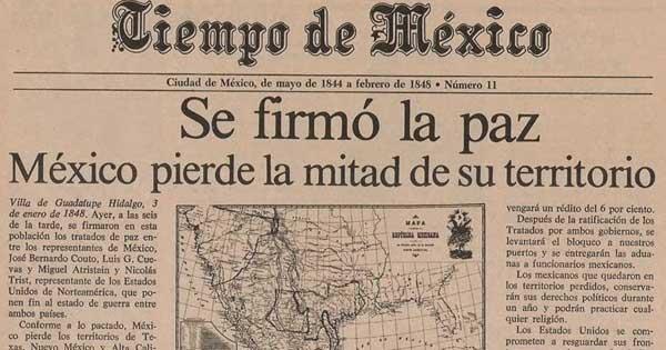La firma de El Tratado de Guadalupe Hidalgo