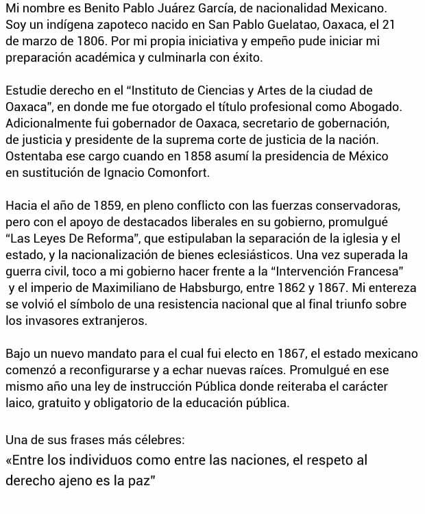Autobiografía de Benito Juárez